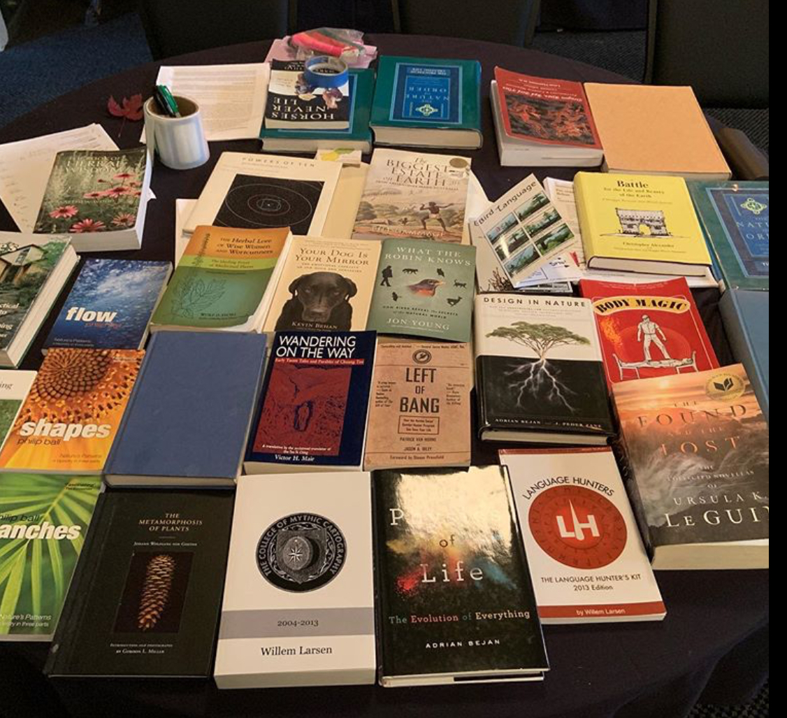 books on show at th eThermodynamics of Emotion Symposium 2019
